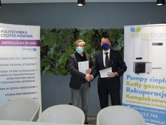 Podpisanie porozumienia pomiędzy Eco-Team i PCz